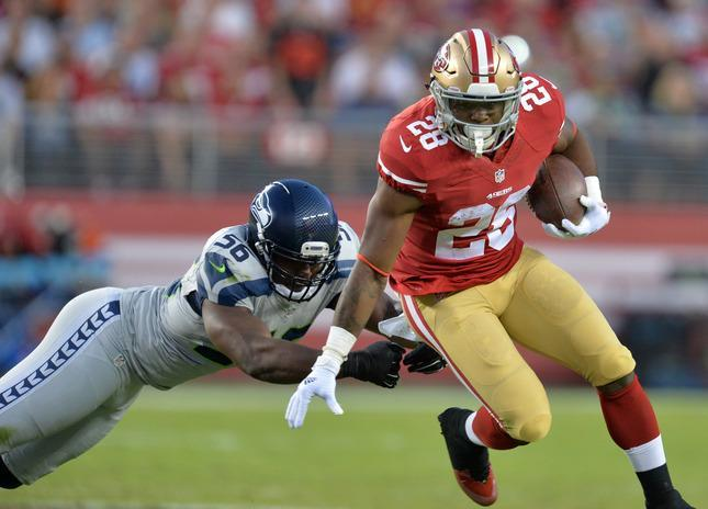 Daily Fantasy Football Stock Report Carlos Hyde Is The Slowest And Most Indecisive Rb On The Ers